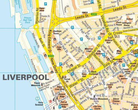 Liverpool-Várostérkép